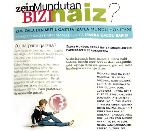 """Guia """"Asi soy yo"""" para chico en euskera en sortzen asesoria de empoderamiento de las mujeres en bilbao"""
