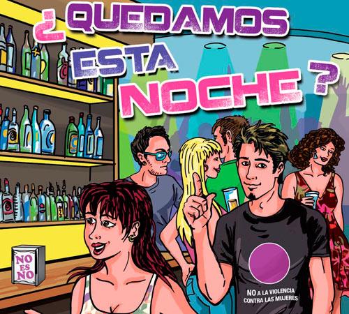"""Comic """"quedamos esta noche"""" en castellano con sortzen consultoria de igualdad de genero"""