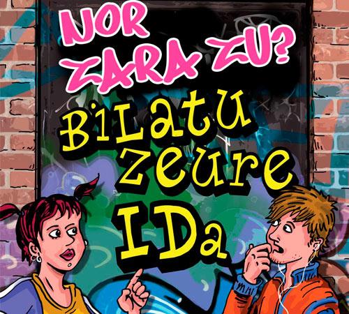 """Comic """"Quien eres tu busca tu ID"""" en euskera con sortzen consultoria de igualdad de genero"""